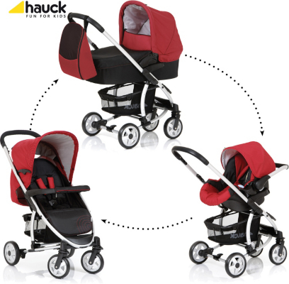 Hauck Malibu Pushchair Set In Red, Red Picture