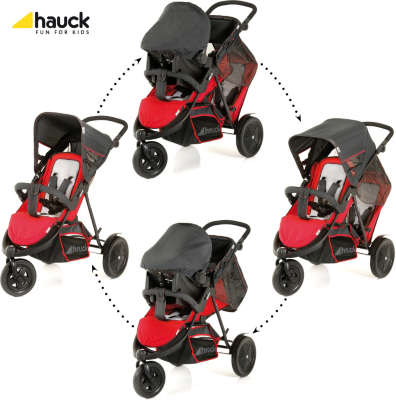Hauck Freerider Pushchair Set In Red, Red Picture