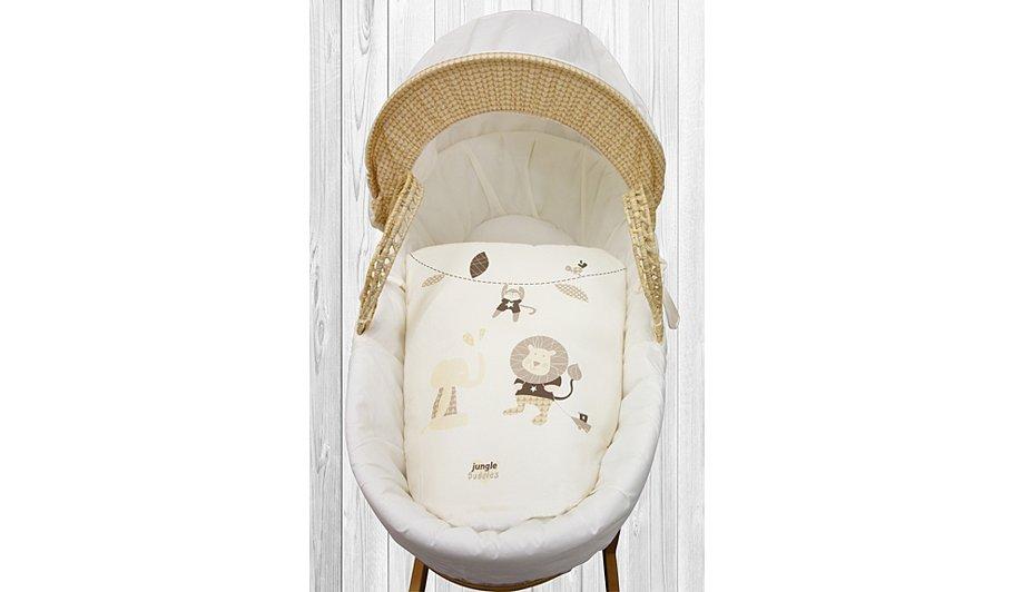 Baby Gift Basket Asda : Kinder valley jungle buddies moses basket cream gifting