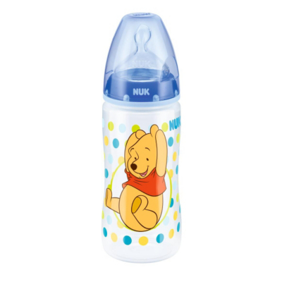 NUK First Choice Disney Winnie the Pooh 300ml Bottle with Silicone Teat (06months) Mixed