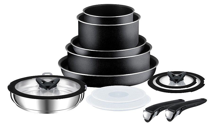tefal ingenio essential 13 piece non stick cookware set. Black Bedroom Furniture Sets. Home Design Ideas
