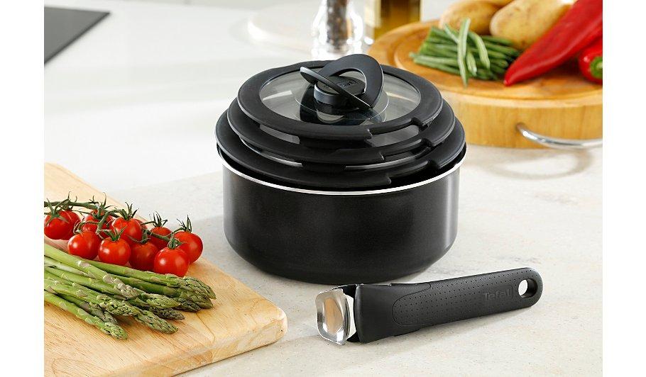 tefal l0368242 ingenio essential 7 piece saucepan set with. Black Bedroom Furniture Sets. Home Design Ideas