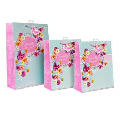 In Bloom Gift Bag Set, Pink AS0184