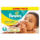 Pampers New Baby Size 3 Midi 4kg-9kg Jumbo Pack 74 Nappies