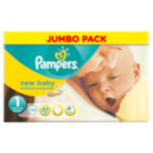 Pampers New Baby Size 1 Mini 2kg-5kg Jumbo Pack 74 Nappies