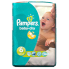 Pampers Baby Dry Size 6 Extra Large 16+kg Carry Pack 19 Nappies
