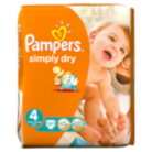 Pampers Simply Dry Size 4 Maxi 9kg-20kg Large Pack 74 Nappies