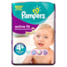 Pampers Active Fit Size 4+ Maxi + 9kg-20kg Carry Pack 22 Nappies