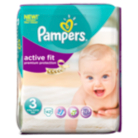 Pampers Active Fit Size 3 Midi 4kg-9kg Essential Pack 42 Nappies