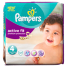 Pampers Active Fit Mega Pack Size 4 7kg-18kg 4x37 Nappies