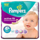 Pampers Active Fit Mega Pack Size 4+ 9kg-20kg 36 Nappies