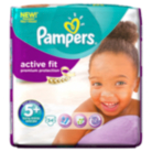 Pampers Active Fit Size 5+ Junior+ 13kg-27kg Essential Pack 34 Nappies