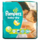 Pampers Baby Dry Size 4 Maxi 9kg-20kg Carry Pack - 27 Nappies
