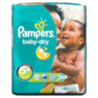 Pampers Baby Dry Size 5+ Junior + 13kg-27kg Carry Pack - 22 Nappies