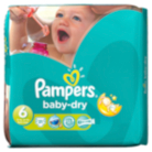Pampers Baby Dry Sze 6 Extra Large 16+kg Essential Pack 31 Nappies