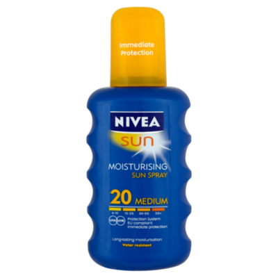 Nivea Moisturising Suncream Spray  SPF 20 200ml