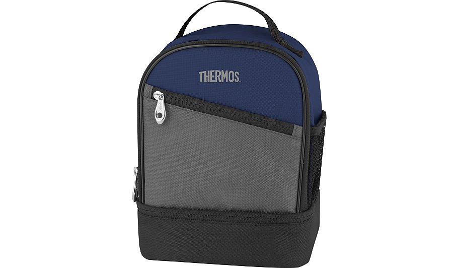 thermos blue insulated dual lunch bag kitchen storage. Black Bedroom Furniture Sets. Home Design Ideas