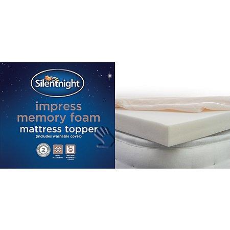 silentnight luxury memory foam mattress topper mattress. Black Bedroom Furniture Sets. Home Design Ideas