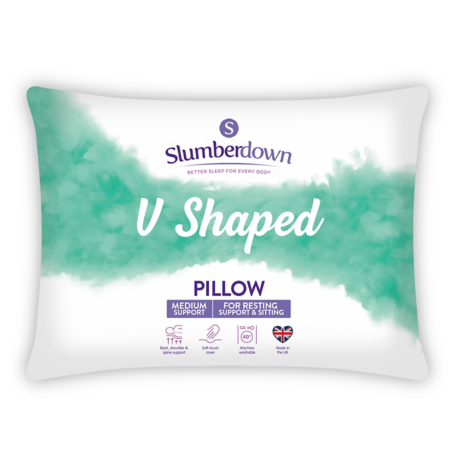 Slumberdown V Shape Pillow Pillows Asda Direct