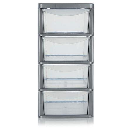 asda 4 drawer storage unit storage asda direct. Black Bedroom Furniture Sets. Home Design Ideas