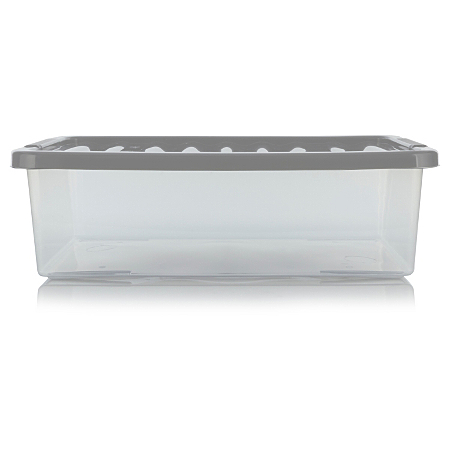 asda clear underbed box and lid 32l storage asda direct. Black Bedroom Furniture Sets. Home Design Ideas