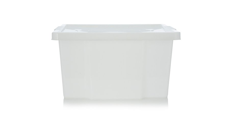 asda storage box and lid clear storage george at asda. Black Bedroom Furniture Sets. Home Design Ideas