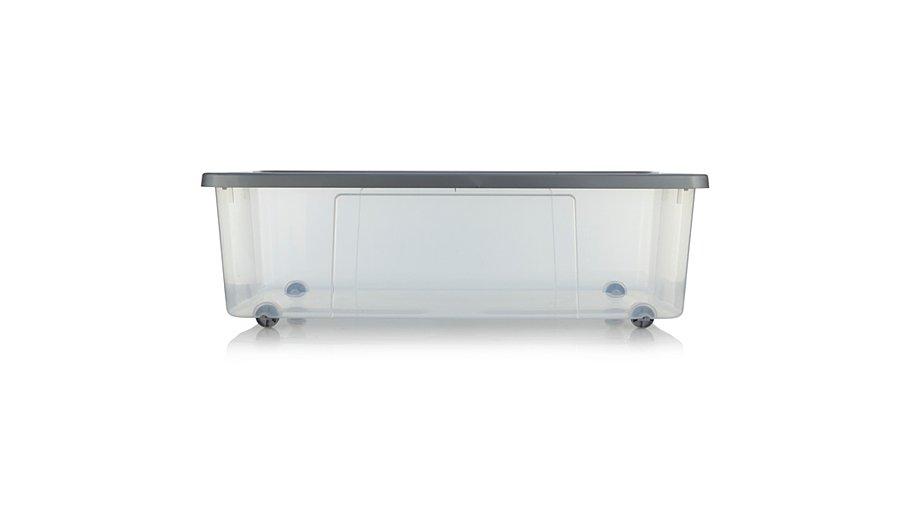ASDA Clear Wheeled Storage Box - 75L