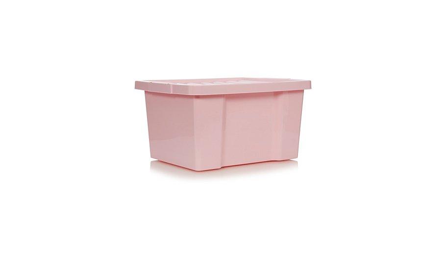 Asda Pink Box And Lid 27L - Set Of 4
