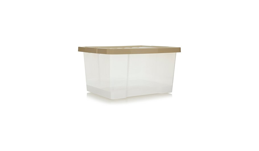 Asda Clear Box And Putty Lid 27L - Set Of 4