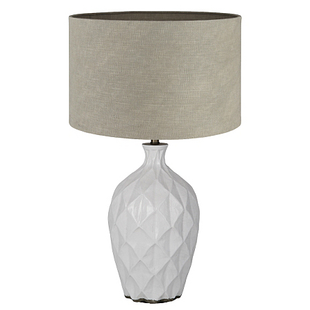 pacific lighting white geometric table lamp lighting. Black Bedroom Furniture Sets. Home Design Ideas