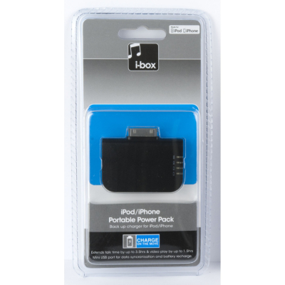 iBox iPod and iPhone Portable Power Pack, Black product image