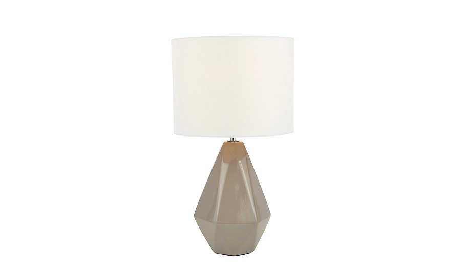 inlight geometric ceramic table lamp grey lighting. Black Bedroom Furniture Sets. Home Design Ideas
