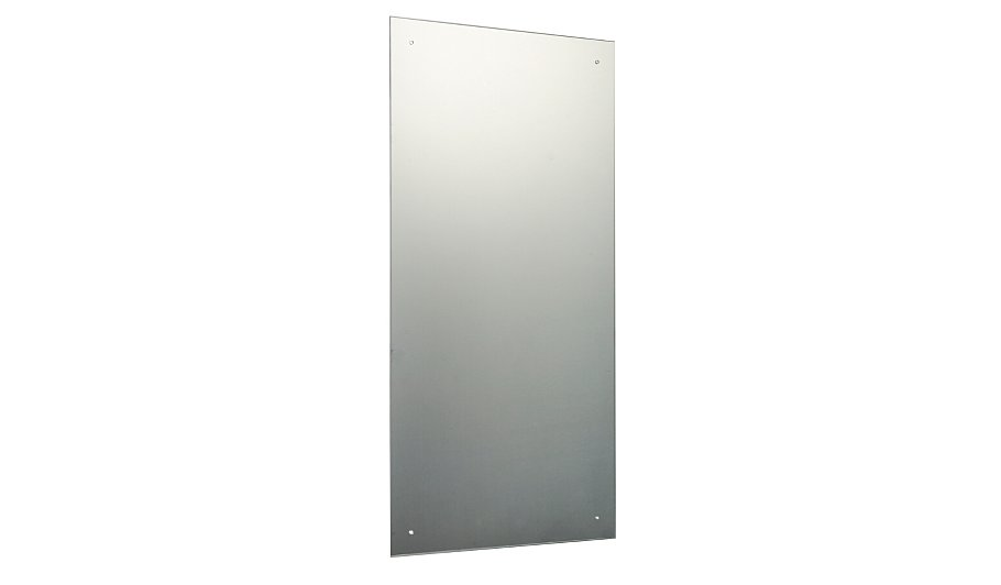 Rectangular unframed mirror 90 x 45cm mirrors george for Mirror 90 x 90
