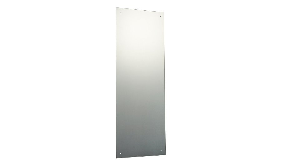 Slim rectangular unframed mirror 120 x 45cm mirrors for Long slim mirror