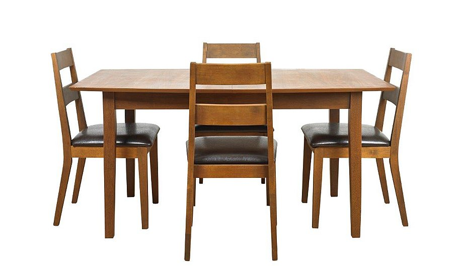 Darwen extending dining table and 4 chairs 120 150cm for 120 dining table sets