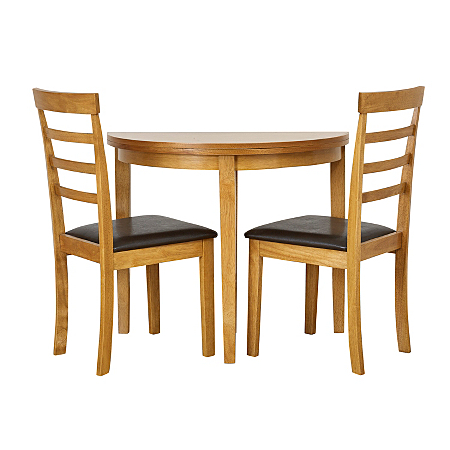 Shultz Half Moon Dining Table And 2 Chairs Dining Tables Chairs
