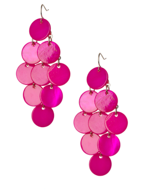 Shell Drop Earrings - Pink