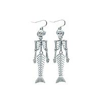Halloween Mermaid Skeleton Earrings Women George At Asda