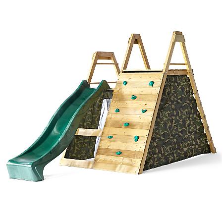 Plum Pyramid Wooden Climbing Frame Outdoor Play Centre