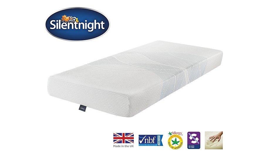 silentnight 3 zone memory foam mattress single. Black Bedroom Furniture Sets. Home Design Ideas