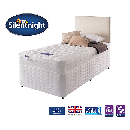 Silentnight Miracoil Cushion Top Divan Single Various Storage Beds Asda Direct