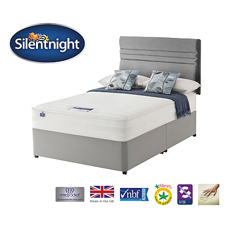 Silentnight Miracoil Mirapocket 1200 Deluxe Memory Divan Headboard King Size Various