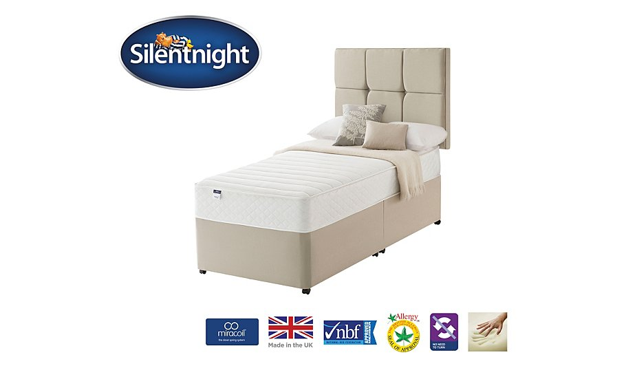 Silentnight Miracoil Superior Memory Divan Headboard Single Various Storage Beds