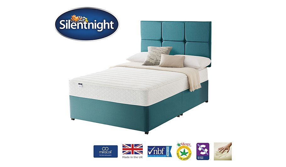 Silentnight Miracoil Superior Memory Divan Headboard Double Various Storage Beds