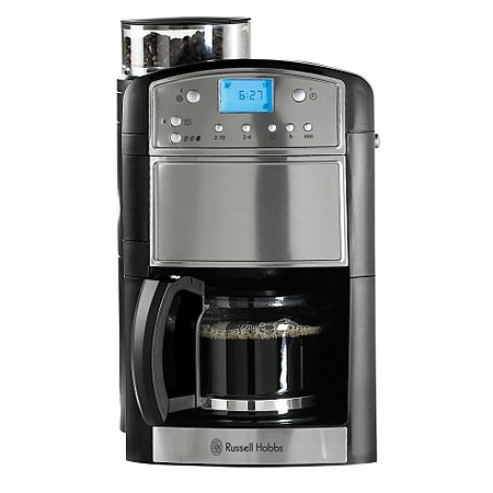 Russell Hobbs 14899 Platinum Grind and Brew Coffee Machine Coffee Machines ASDA direct