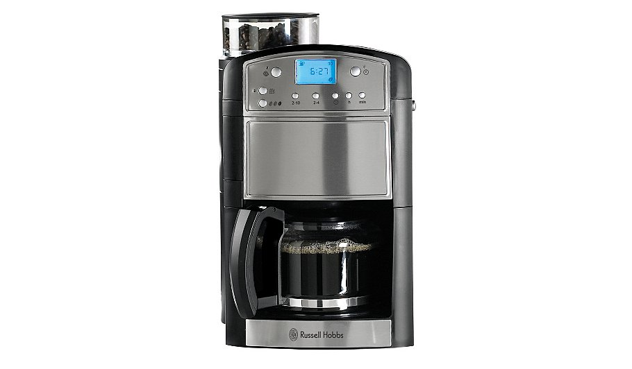 Russell Hobbs 14899 Platinum Grind and Brew Coffee Machine Coffee Machines George at ASDA