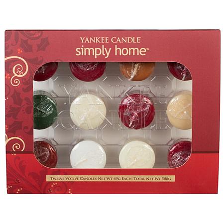 yankee candle winter votive set 12 pack candles. Black Bedroom Furniture Sets. Home Design Ideas