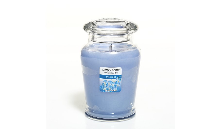 yankee candle simply home large jar sweet pea home. Black Bedroom Furniture Sets. Home Design Ideas