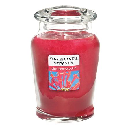 yankee candle pink honeysuckle large jar candles. Black Bedroom Furniture Sets. Home Design Ideas