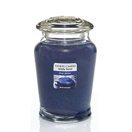 yankee candle blue denim medium jar candles holders. Black Bedroom Furniture Sets. Home Design Ideas